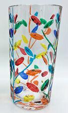 """MILANO"" HIGHBALL GLASS - TUMBLER - EACH - HAND PAINTED VENETIAN GLASSWARE"