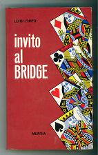 FIRPO LUIGI INVITO AL BRIDGE MURSIA 1969 I GIOCHI CARTE
