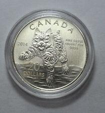 SCARCE 2014 Canada $20 Fine Silver Commemorative Coin - BOBCAT !!!!