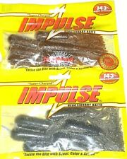 """.Northland Tackle Impulse 3.5"""" Fatty Tubes (Lot of 2-Water-Red/Gr Pump Pur-6/pk)"""
