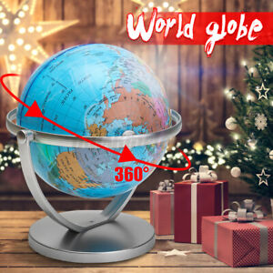 7inch 360° Rotating Stand World Globe For School Home and Ofiice Desk Decor