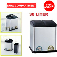 Kitchen Trash Can Garbage Large Silver Stainless Steel