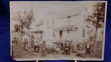 Victorian Matted Silver Nitrate Family Architectural House Photograph 8''x5''
