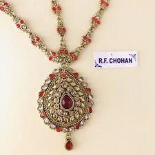 Antique gold red headpiece matha patti tikka hijab boho bridal hair chain prom