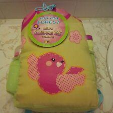 "Kids Sleeping Bag backpack flash light water bottle girls 58 x 27"" Slumber Party"