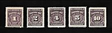 CANADA 1935-1948 Postage Due Stamps SC# J15-J18, J20 MH