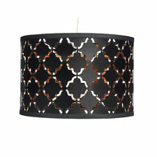 Beautiful Black and Copper Cutwork Shade Light Pendant Lampshade NEW