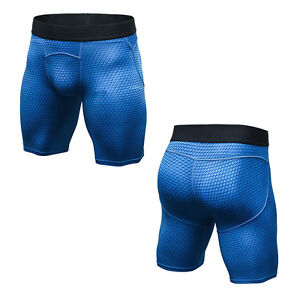 Mens Workout Compression Shorts Moisture Wicking Gym Underwear Sports Breathable