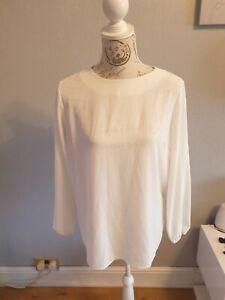 Cream Chiffon Blouse, size 12 worn once
