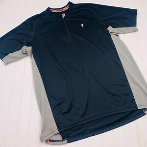 Specialized Men's 1/4 Zip Cycling T-Shirt Sz L Short Sleeve Color Block Black
