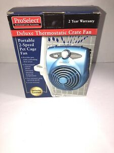 Pro Select Profesional Crate Accessories Deluxe Thermostatic Crate Fan 2 Speed
