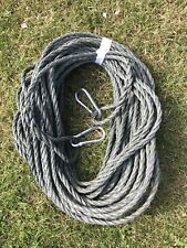 100FT OF 10MM ROPE ANCHOR BOAT MOORING 10MM SNAP HOOKS BOTH ENDS  CAMMO GREEN
