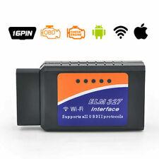 ELM327 Wifi Interface Diagnostique Auto ODB2 ODBII Détecteur Panne IOS Android