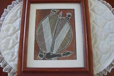 "VINTAGE ABORIGINE ARTWORK  ""LONG NECK TURTLE TITLE RARE ESTATE COA"