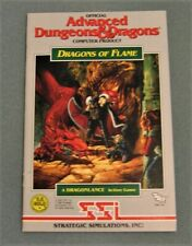 Dragons of Flame Advanced Dungeons & Dragons SSI Video Game Rule Book