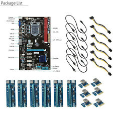 Mining Motherboard 6 GPU+6pcs PCI-E Extender Riser Card For Crypto miners