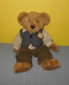 """Sir Bradford 12"""" Teddy Bear Limited Edition Bean Plush - Dressed w/ Vest & Watch"""