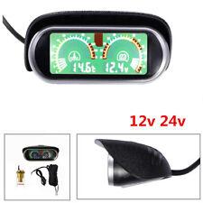 LCD Screen Car SUV Truck Water Temperature Gauge Meter+ Voltmeter Voltage Gauge