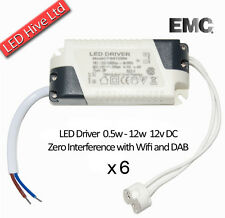 6 x 12W LED DRIVER incl MR16 Lampadina Connettore - 240V a 12V