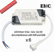6 X 12W Bombilla LED controladores incl MR16 Conector - 240V a 12V