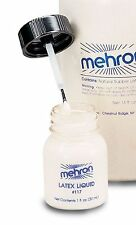 Latex Liquid Clear Latex  Mehron 1 oz Prosthetic Adhesive Special Effects