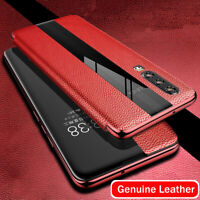 Genuine Leather Window View Flip Case Cover For Huawei Mate 20 Pro/X P20 P30 Pro