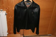 Ralph Lauren Black Leather Jacket Small