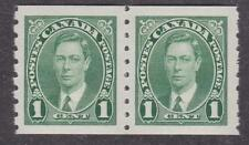 Canada 1937 #238 King George VI coil stamps MNH VF