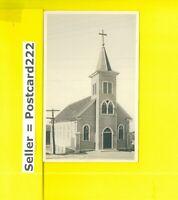 PA Hazleton area 1901-29 udb RPPC real photo postcard CHURCH  Zenier Studio