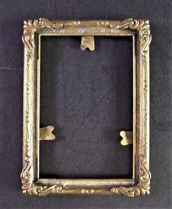 - antiker Fotorahmen / Bilderrahmen  - Puppenstube 7,5cm x 5,5cm