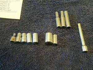 Craftsman Socket Lot 1/4 drive