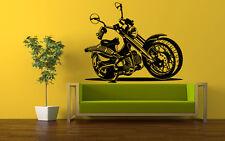 Wall Art Vinyl Sticker Room Decal Mural Decor Chopper bike motorcycle bo1728