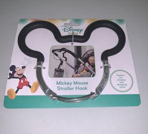 New Disney Baby Mickey Mouse Ears Black Stroller Hook Shopping Cart Diaper Bag