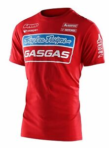TROY LEE DESIGNS TEAM GAS GAS ADULT MOTOCROSS T SHIRT RED