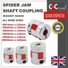 CNC Shaft Coupler Flexible Plum Spider Jaw Coupling Stepper Motor All Bore Sizes