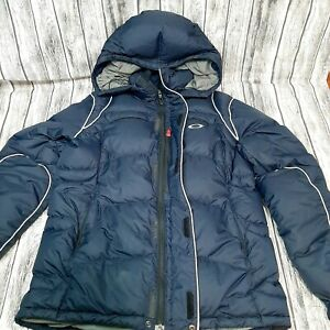 Oakley Hydro Fuel 4 Ski Snowboarding Jacket Size Small Insulated Navy Blue Woman