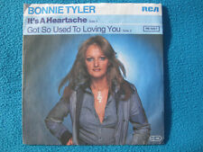 "Bonnie Tyler It's a heartache+Got so used to loving you 1977 Vinyl Single 7""[NM]"