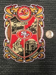 "SF San Francisco 49ers Vintage Rare Embroidered Iron On Patch 6.5"" X 5"""