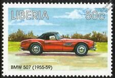 1955-1959 BMW 507 Mint Automobile Sports Car Stamp (1998 Liberia)