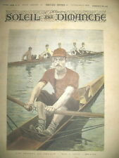 SPORTS EN FRANCE MATCH AVIRON DESSIN DE LUQUE JOURNAL SOLEIL DU DIMANCHE 1893