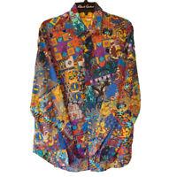 Robert Graham - Colorful Long Sleeve - Men's Medium Button Down Classic Fit