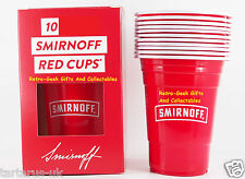 Smirnoff Vodka Branded Big Red Party Cup Pack Of 10 Boxed 15 FL OZ 400ml