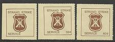 AUSTRALIA 1981 CRICKET STRAND STRIKE MAIL CINDERELLAS 3v Perf MNH