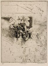 TREVOR SOUTHEY 20th c. Rhodesian American ORIGINAL SIGNED A/P ETCHING Rose Hips