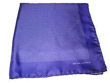 Black Label Ralph Lauren Silk Purple Polka Dot Polo Italy Pocket Square Scarf