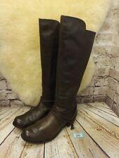 Womens UGG Australia Cierra Brown Leather Knee High Boots UK 7 - Model 1008714
