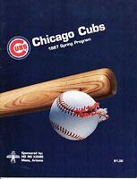 1987 Spring Training Baseball Program California Angels @ Chicago Cubs, unscored