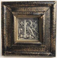 Hans Holbein's Dance Of Death Alphabet Black Frame Oddities Letter R