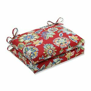 Pillow Perfect 601663 Outdoor/Indoor Daelyn Cherry Square Corner Seat Cushion...