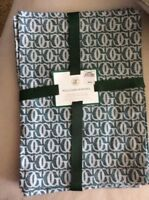 NEW! William-Sonoma Monogram Jacquard Forest Green Placemats - Set of 4